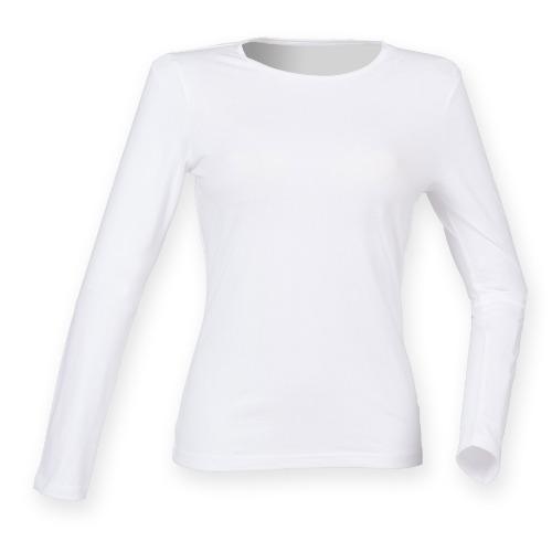 816e9752df05 Women's Feel Good Long Sleeve Stretch Crew Neck T. Shirt - Nauticrew